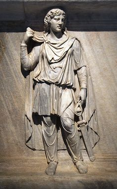 A representation of Scythia, Roman relief (marble), 2nd century AD, (Museo Archeologico Nazionale, Naples).