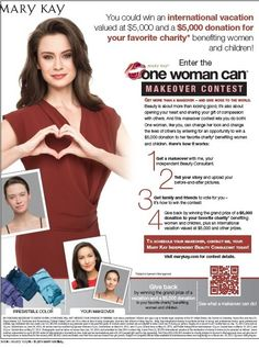 Contact me to set up your on trend makeover and enter into this great contest No purchase Required  Www.marykay.cadjbrooks