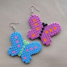 Butterfly earrings hama mini beads by rikaccokingdom