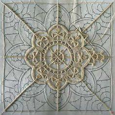 Birth of needle lace - Lace and Butterfly - Knitting Hardanger Embroidery, Lace Embroidery, Embroidery Stitches, Embroidery Patterns, Needle Lace, Bobbin Lace, Irish Crochet, Crochet Lace, Romanian Lace