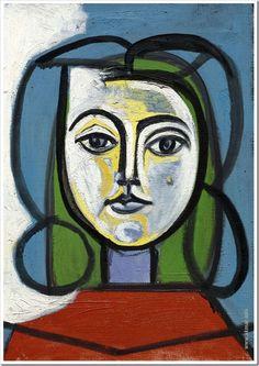 Пабло Пикассо. Голова женщины (Портрет Франсуазы). Период: Послевоенный период…