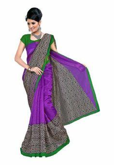 Fabdeal Indian Designer Super Net Purple Printed Saree Fabdeal, http://www.amazon.de/dp/B00INWQ78G/ref=cm_sw_r_pi_dp_tE8otb0BNWNS5