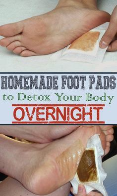 Homemade foot pads to detox your body overnight