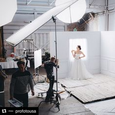 Behind the scenes via @profotousa | @millerphotographics making that window light without real windows. #bts photo and lighting by @cassletsonimages