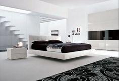 Black and White Minimalist Bedrooms