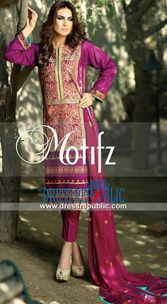 Pakistani Lawn Brand Motifz Embroidered Collection 2015 Vol 1