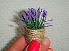 How to make lavender in a basket - need to translate in Russian but lots of pictures