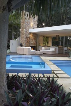 Outdoor room & pool...wow!