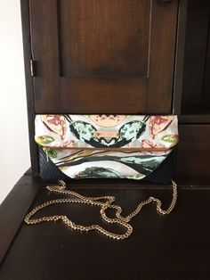 9 x 12 linen and leather clutch by ZydecoandJazz on Etsy