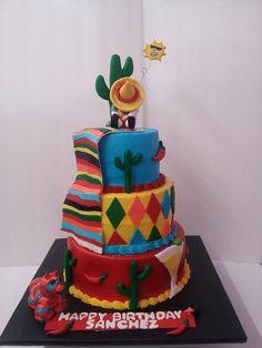 Mexican theme cake