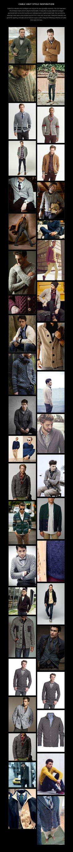 CABLE KNIT STYLE INSPIRATION