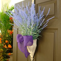 spring wreath, lavender wreaths, Easter wreaths, front door wreath, decorations, spring wreath on Etsy, $84.00
