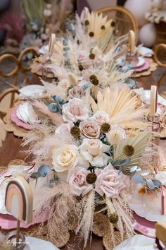 Floral Boho Runner from a Muted Boho Princess Party on Kara's Party Ideas | KarasPartyIdeas.com (26)
