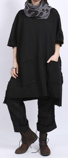 rundholz dip - Kleid mit Struktur Oversize black - Sommer 2016