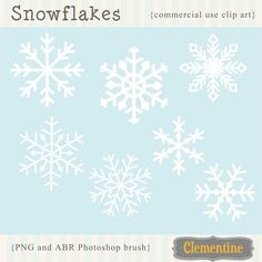 New to ClementineDigitals on Etsy: Snowflake clipart snowflake clip art images and photoshop brushes commercial use- Instant Download (5.00 USD)