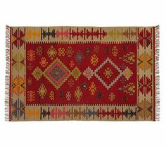 Ros Kilim Indoor/Outdoor Rug #potterybarn thinking could be cute for my outdoor living room