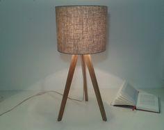Dreibein Lampe Tripod  Tischlampe dunkel von stockwerk-shop auf DaWanda.com