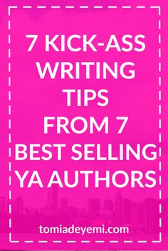 Check out these awesome writing tips from the best selling YA authors in the business!