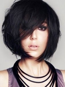 bob with swing fringe - wish i could figure out how to make my hair do things like this!