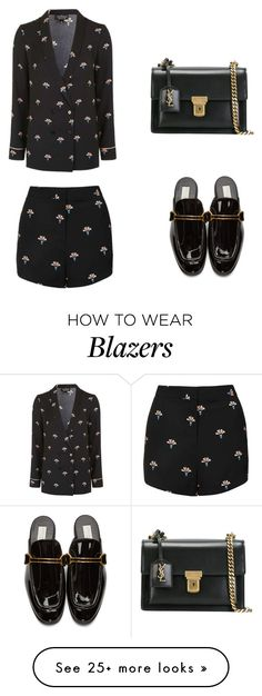 """""""KL"""" by theblondesandwich on Polyvore featuring Topshop, STELLA McCARTNEY and Yves Saint Laurent"""