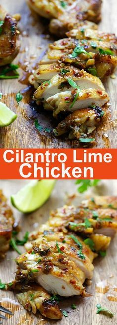 Cilantro Lime Chicken – juicy, moist chicken marinated with cilantro, lime and garlic. Pan-fry, bake or grill the chicken with this easy recipe   http://rasamalaysia.com
