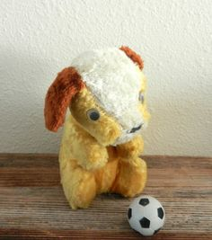 Antique Yellow Mohair Dog Vintage Stuffed by happenstanceNwhimsy, $10.00