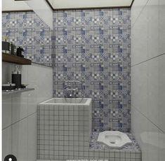 kamar mandi Bathroom Tile Designs, Bathroom Design Small, Bathroom Layout, Simple Bathroom, Bathroom Interior Design, Home Room Design, Home Design Plans, House Design, Minimalist Bathroom Design
