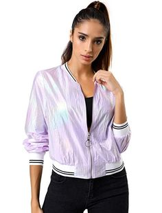 New Womens Celeb Inspired Bomber Jacket Ladies Plain Crop Biker Vintage Coat Top