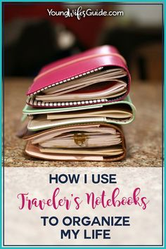 How I Use Traveler's Notebooks to Organize My Life - YWGtv Episode 9 - Young Wife's Guide