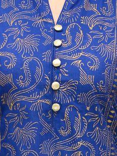 blue cotton straight kurta