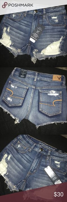 NWT American eagle high waisted distressed shorts Brand new, just in American Eagle Outfitters Shorts Jean Shorts