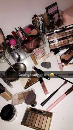 Makeup Primer this Makeup Forever Empty Palette what Makeup Revolution Glitter underneath Makeup Kits For Teens and Makeup Bag New Look Makeup Goals, Makeup Inspo, Makeup Tips, Beauty Makeup, Eye Makeup, Makeup Products, Makeup Storage Box, Makeup Organization, Makeup Primer