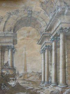roman ruins murals - Google Search