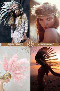 Crowning Glory    Stephanie Bradshaw Creative Studio    Feathers, Headdresses, Native Style