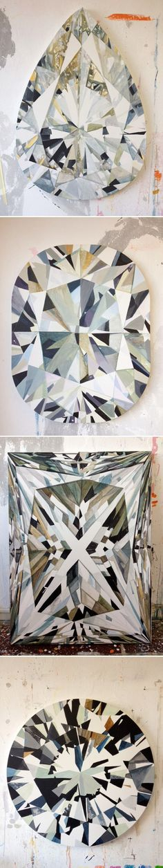 painted diamonds, by kurt pio