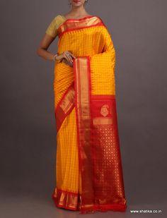 Poonam Effervescent Yellow Pure #GadwalSilkSaree