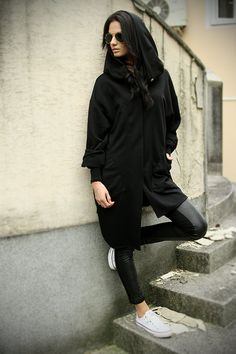 Oversize coat.Extravagant  coat.Black by MIAatelier on Etsy