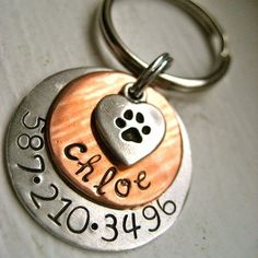 Get these for the girls! The Chloe Tag  Personalized pet id tag by makeyourdogsmile on Etsy