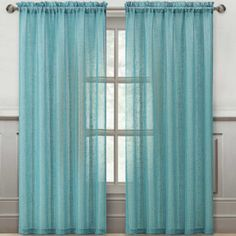 Victoria Classics Sparkle Rod-Pocket Sheer Panel  found at @JCPenney