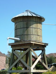 Water Tank Sales partners with TimberTanks to customize wooden water tanks to meet your storage tank needs. Water Catchment, Water From Air, Westerns, Water Scarcity, Water Storage Tanks, Water Collection, Rainwater Harvesting, Water Resources, Le Far West