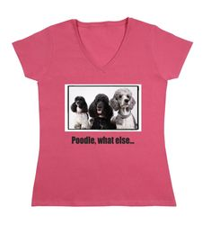 Poodle, what else V Neck, Dogs, Women, Fashion, Poodle, Moda, Fashion Styles, Pet Dogs, Doggies