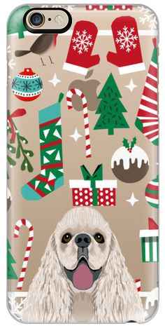 Casetify iPhone 6s Classic Snap ケース - cocker spaniel christmas cell phone case for dog lover with cute cocker spaniels by Pet Friendly #Casetify