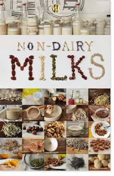 Free downloadable poster for making homemade #dairyfree, #plantbased milks: http://www.yumuniverse.com/2013/02/07/plant-powerful-dairy-free-milk/