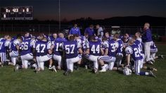 Ship vs Northern. Northern in a pre-game prayer. - 10.19.12