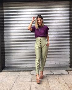 Color Blocking Outfits, Soft Autumn, Colourful Outfits, Colorful, Love Fashion, Womens Fashion, Colored Pants, Office Looks, Soft Summer
