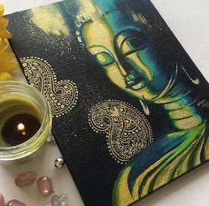 Easy Buddha Acrylic painting tutorial step by step by artyshils art acrylic painting techniques  — ARTYSHILS ART