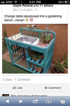 Changing table flower table!