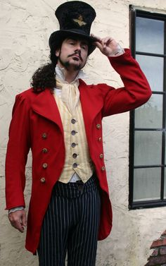A ringmaster look for circus haunted house