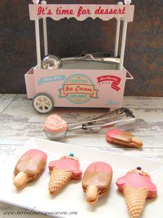 Macarons decorados de helado y polo-Icecream and popsicle decorated macarons
