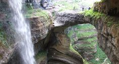 The amazing triple waterfall in Tannourine area